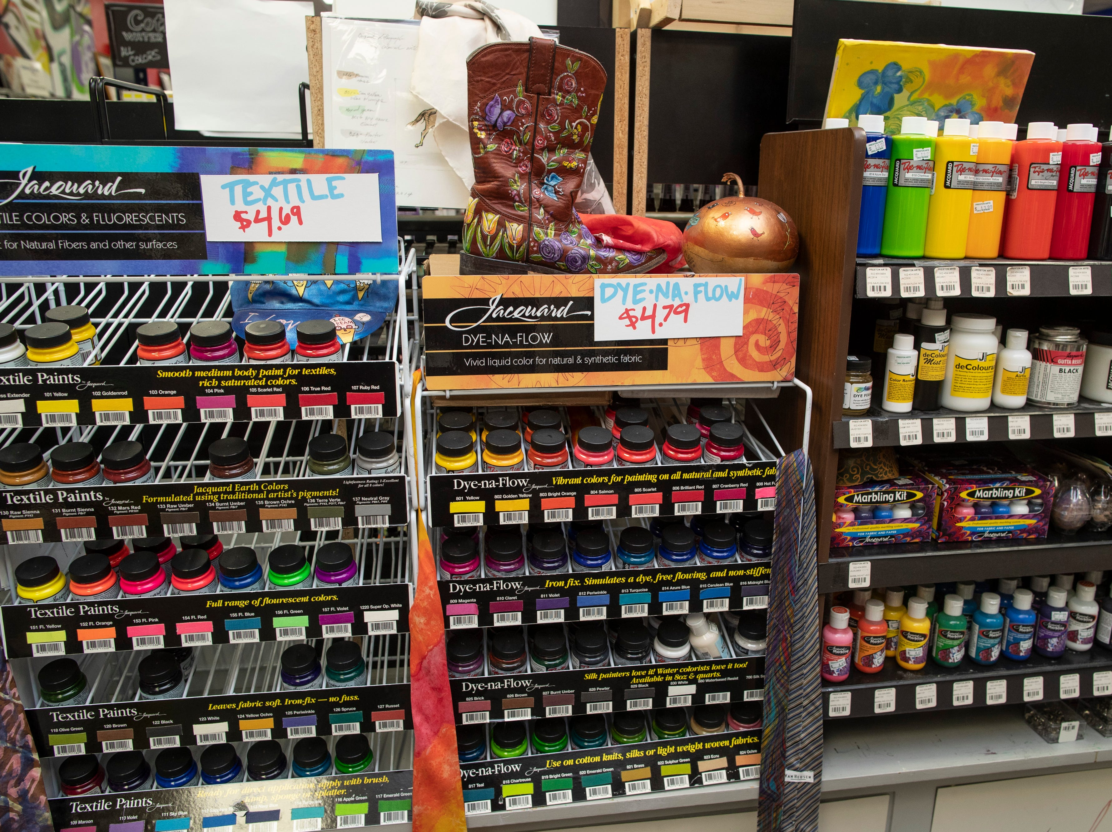 Paints for sale inside the Preston Arts Center store on Bardstown Road. In June a new store is planned to open in Jeffersonville, Indiana. March 12, 2019