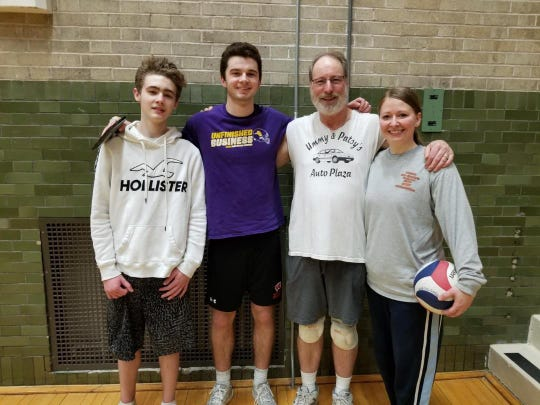 Two Rivers volleyball tournament coed champions for 2019 are, from left: Dylan Gadzinski, Kelvin Veldre (MVP), Rusty Walesh andCheryl Brown.