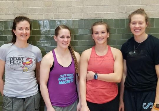 Two Rivers volleyball tournament women's champions for 2019 are, from left:Dana Ladzinski, Katie Polzin, Breanna Newmeyer (MVP) and Rachel Aumann