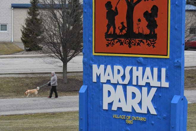 Only those in or near their cars will be allowed in Marshall Park — you are not allowed to enter on foot.