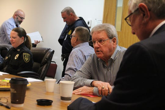 Marion County Commissioner Kerr Murray was among the officials from Marion and Hardin counties at the monthly Marion-Hardin Corrections Commission meeting Wednesday to discuss options for relieving overcrowding at the Multi-County Correctional Center. Also in attendance were City of Marion officials, local law enforcement officials, the other Marion County commissioners, jail staff and local judges.
