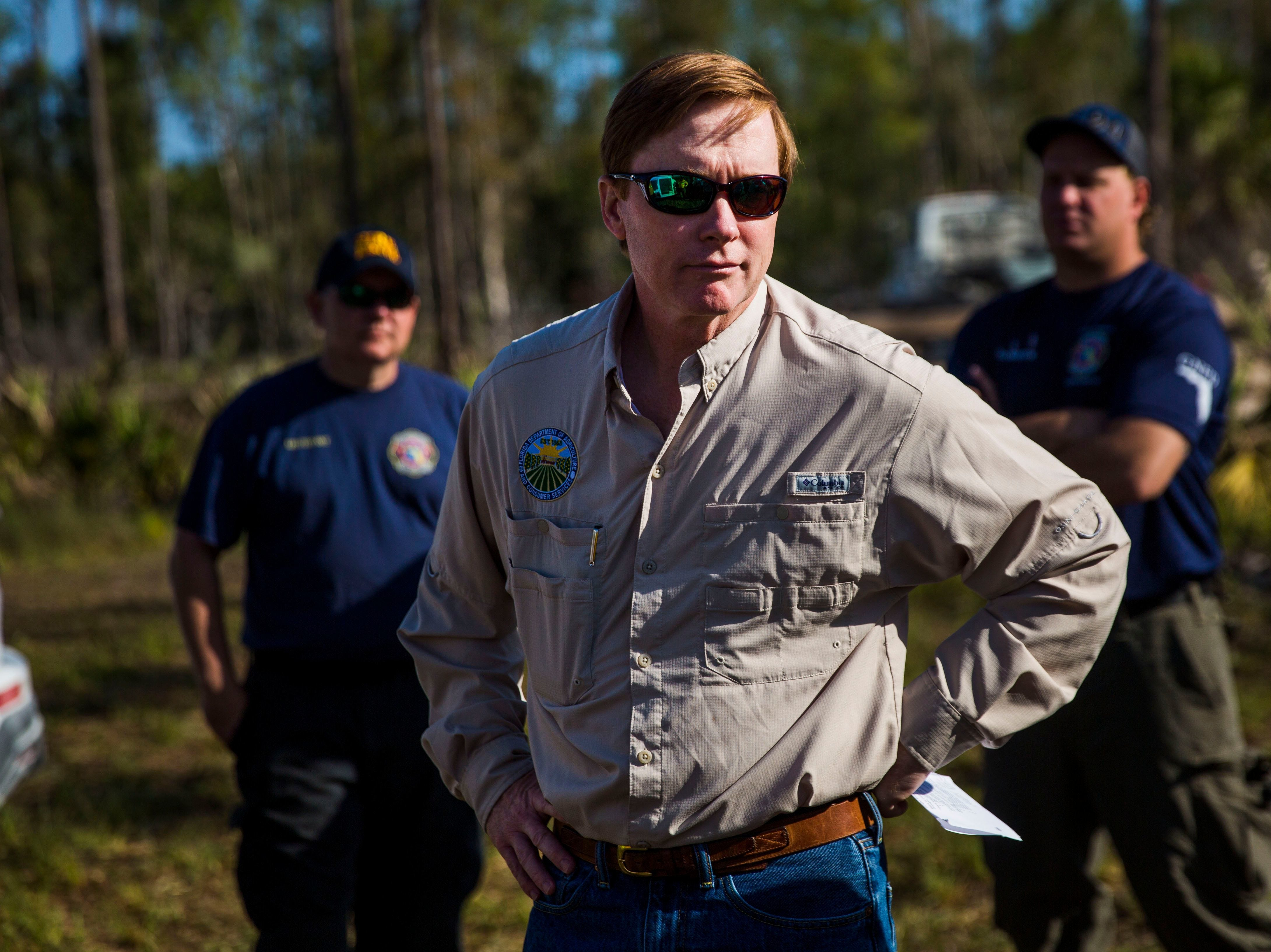 March 28, 2018 - Agriculture Commissioner Adam Putnam, seen here in Collier County. His agency stopped looking into an FBI database for more than a year as part of its concealed-weapon approval procedure.