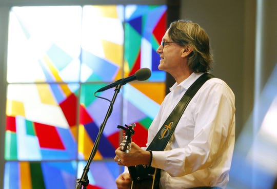 The Rev. John Kilzer plays the Marguerite Francis Music at Noon concert series at Bartlett United Methodist Church on Nov. 2, 2011.