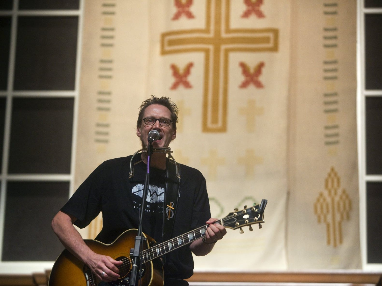 October 22, 2010 - Rev. John Kilzer, minister at St. John's United Methodist Church, former rocker and addict, started a new weekly worship service for those in recovery.