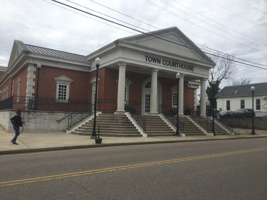 Collierville's small courthouse stands a short distance from the historic town square. Court is in session only a few days a week, and most defendants face low-level charges such as driving without a license.