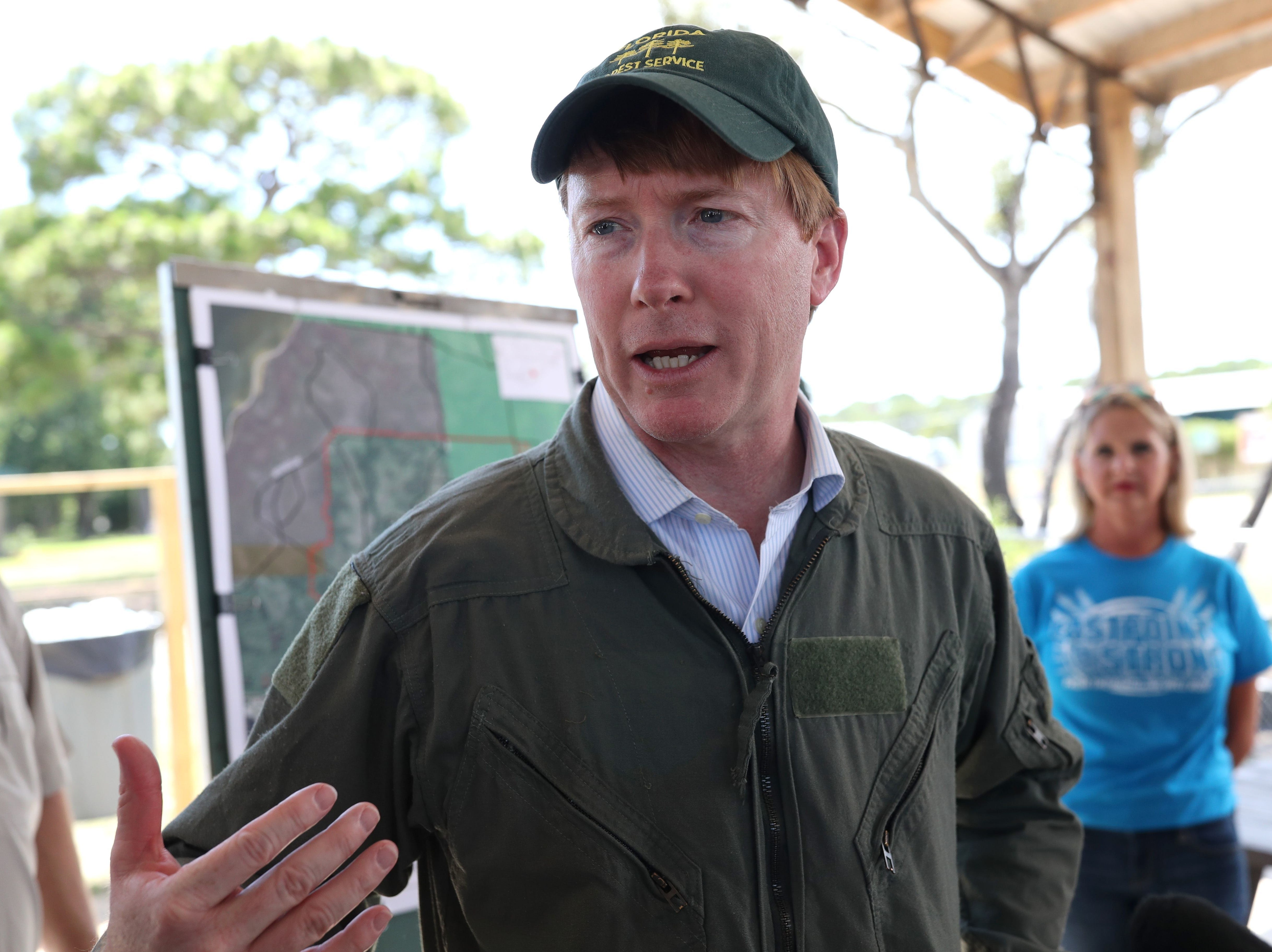 Florida Commissioner of Agriculture Adam Putnam talks about the Eastpoint wildfire that devastated the area, destroying 36 homes and damaging four more in the coastal Florida town.