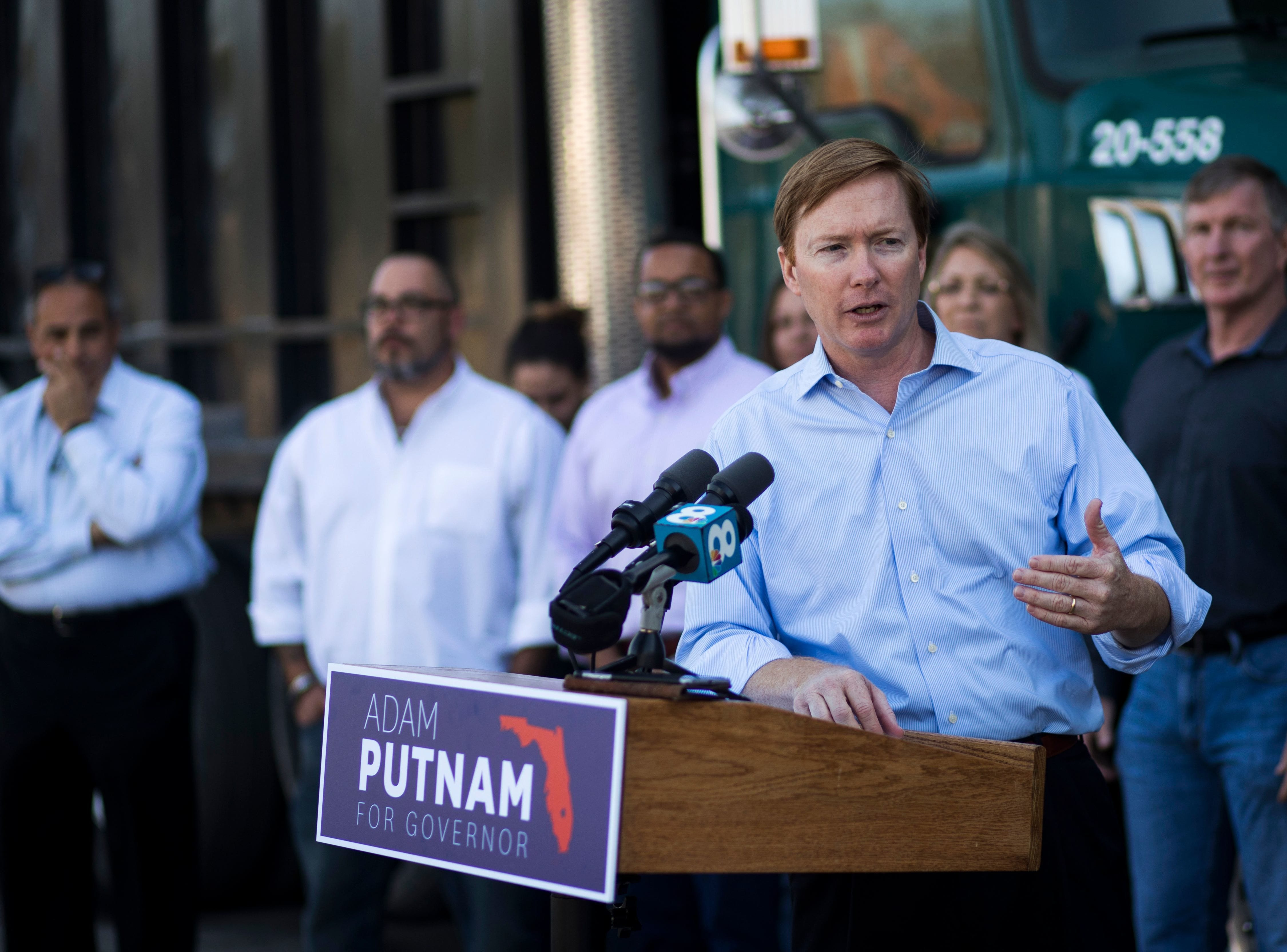 April 6, 2018 - Adam Putnam, Republican gubernatorial candidate, makes a campaign stop at Kimmins Contracting in Tampa.