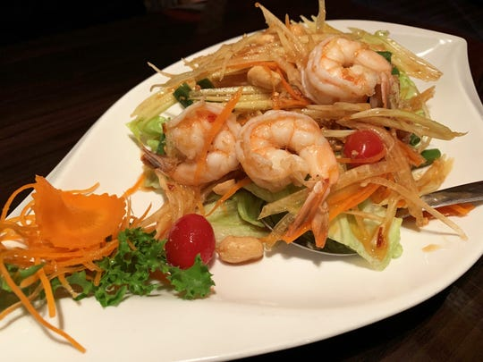 Shrimp papaya salad from Thai Udon Café, Naples.