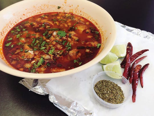 The spicy soup menudo typically contains tripe.