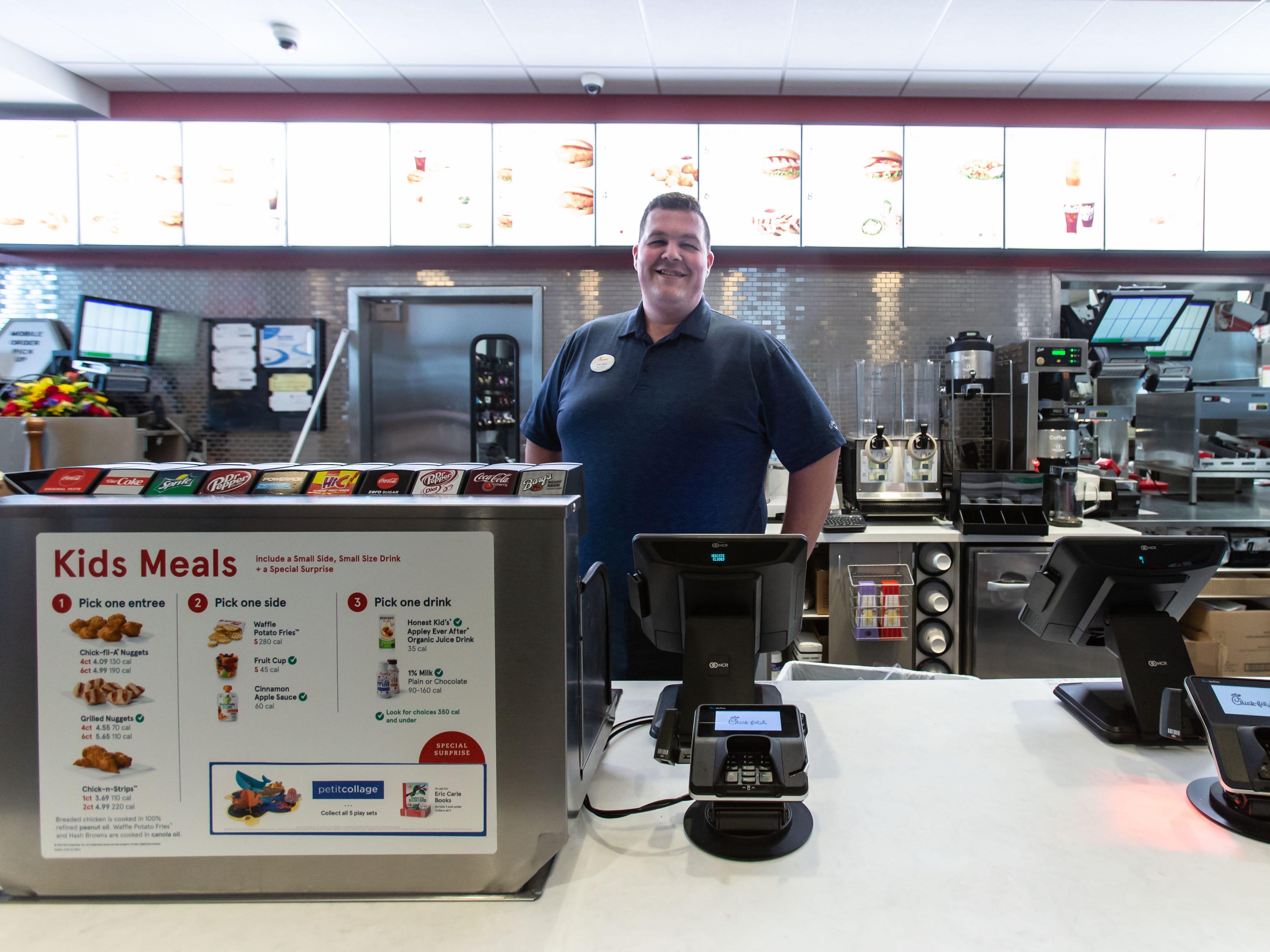 Chick-fil-A Operator Kyle Bartz prepares his Pewaukee location on Wednesday, March 13, for Thursday's grand opening. The restaurant is locate in the Meadow Ridge development at 1454 Capitol Drive.