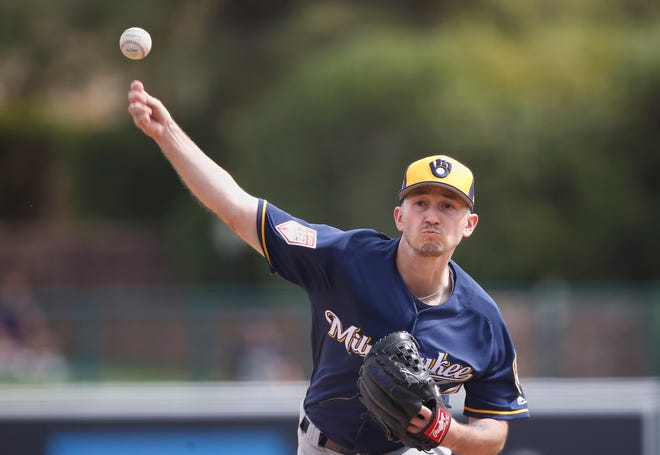 Brewers pitcher Zach Davies said he was pleased with his 75-pitch outing against the Giants on Tuesaday night despite allowing four runs in 3 2/3 innings.