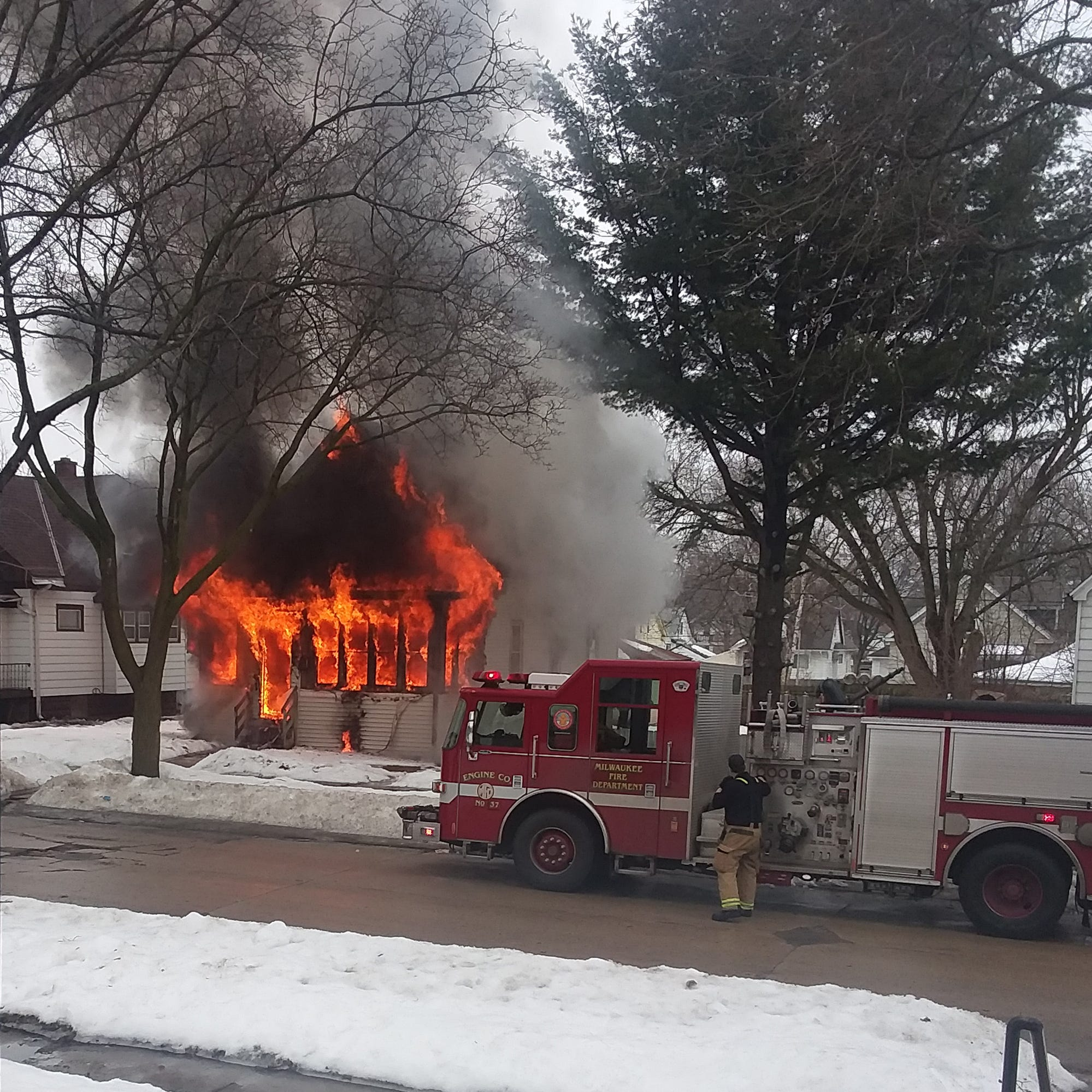 A 4-year-old boy and a 60-year-old man died in a house fire on Milwaukee's north side
