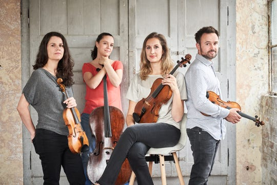 The Elias String Quartet perform March 21 for the Montgomery Chamber Music Organization.