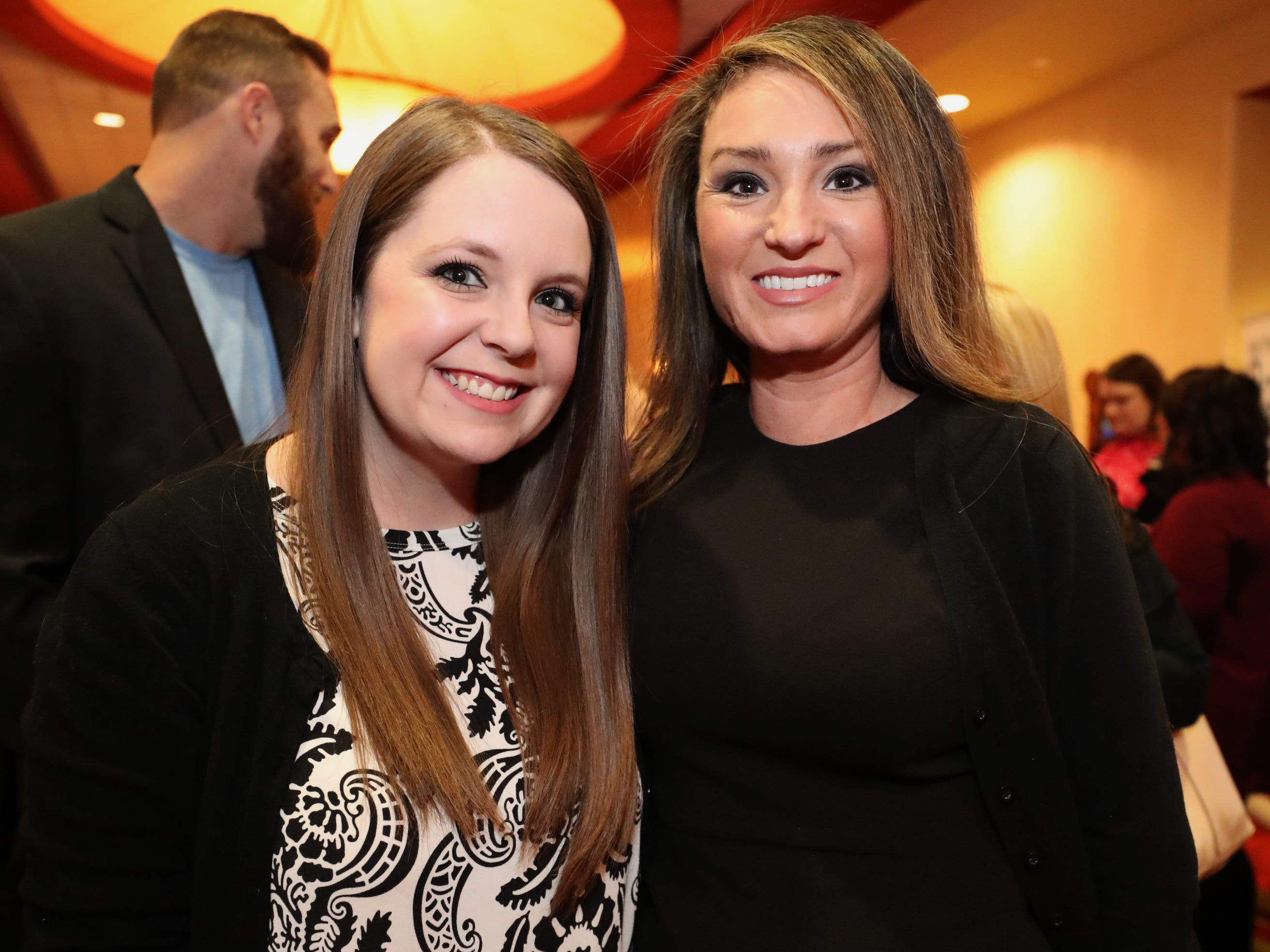 Molly Smith, left and Amanda Clark at Murfreesboro Magazine's 2019 Women in Business Luncheon on Tuesday, March 12, 2019, at the Embassy Suites Murfreesboro.