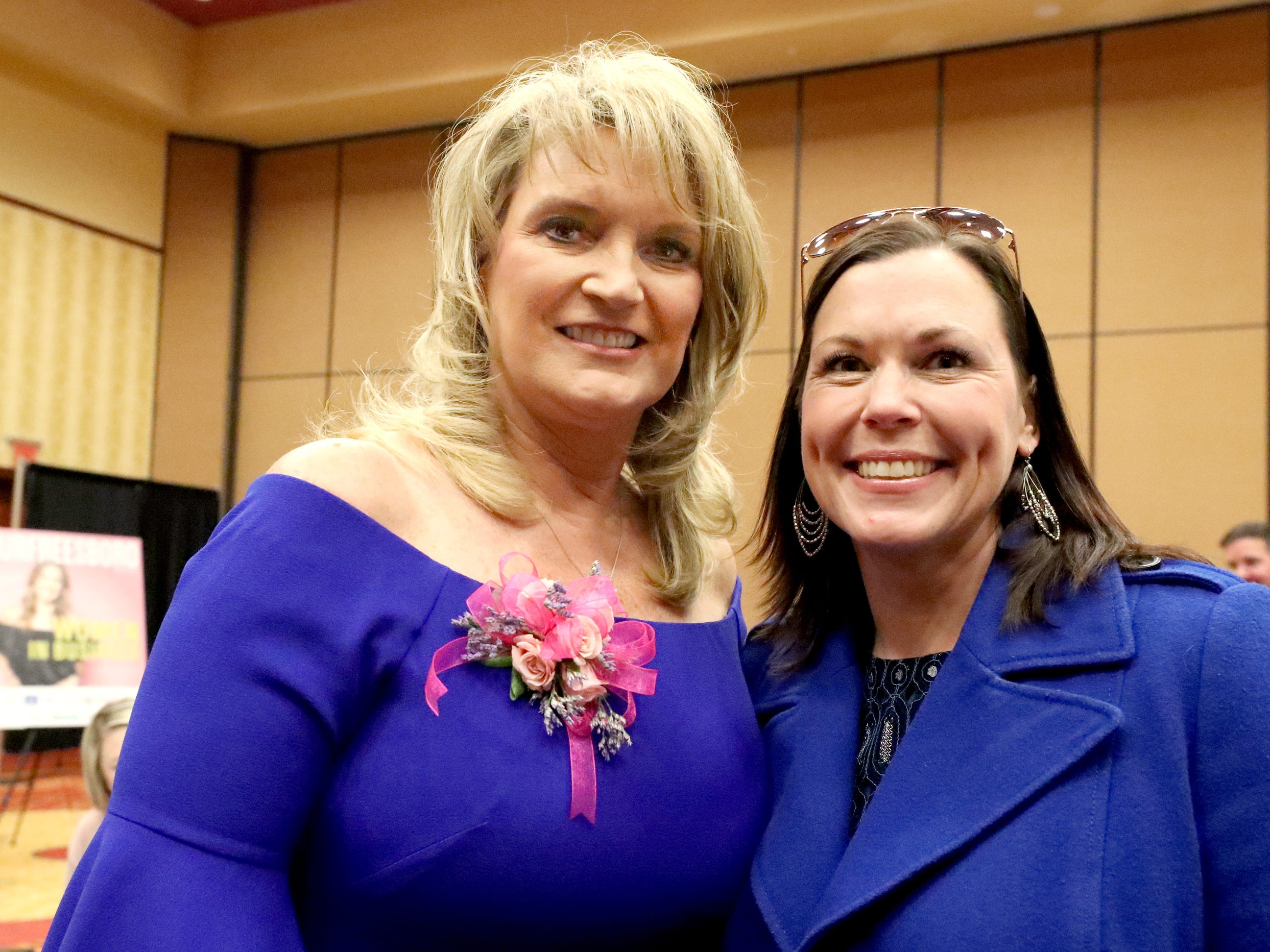 Sheri Morgan, owner of Tri Star Title and Escrowd ,left and Dan Womack at Murfreesboro Magazine's 2019 Women in Business Luncheon on Tuesday, March 12, 2019, at the Embassy Suites Murfreesboro.
