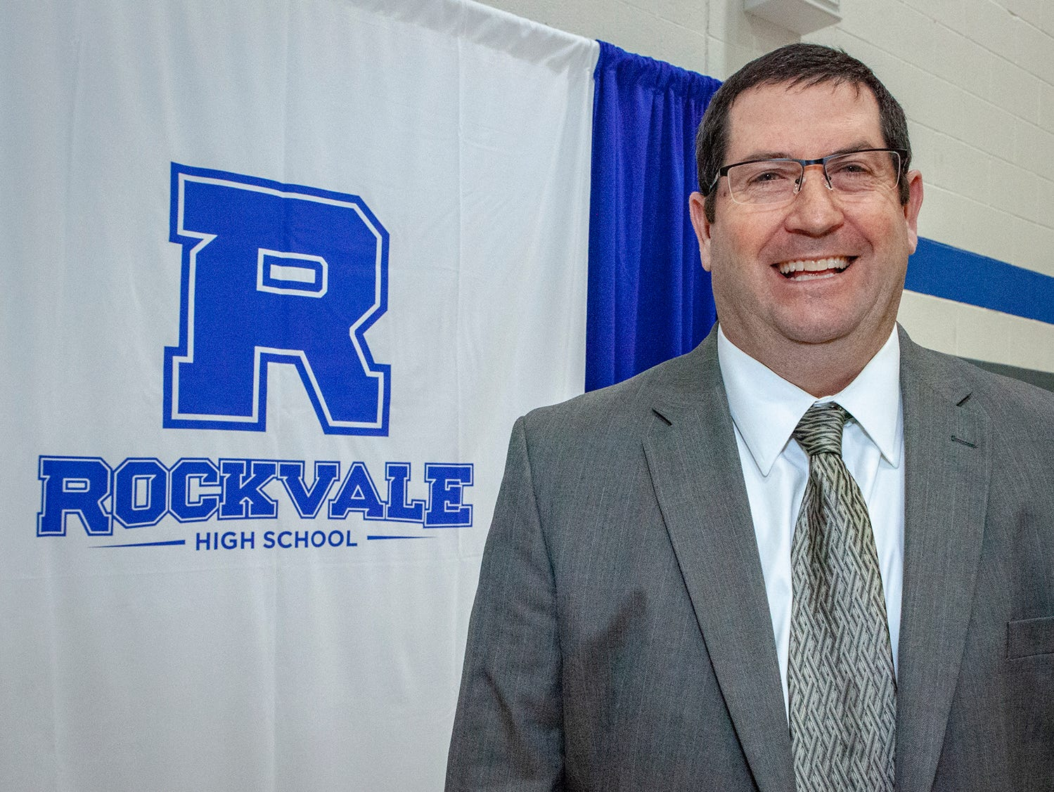 Steve Luker is the first principal at Rockvale High School, which opens fall 2019.