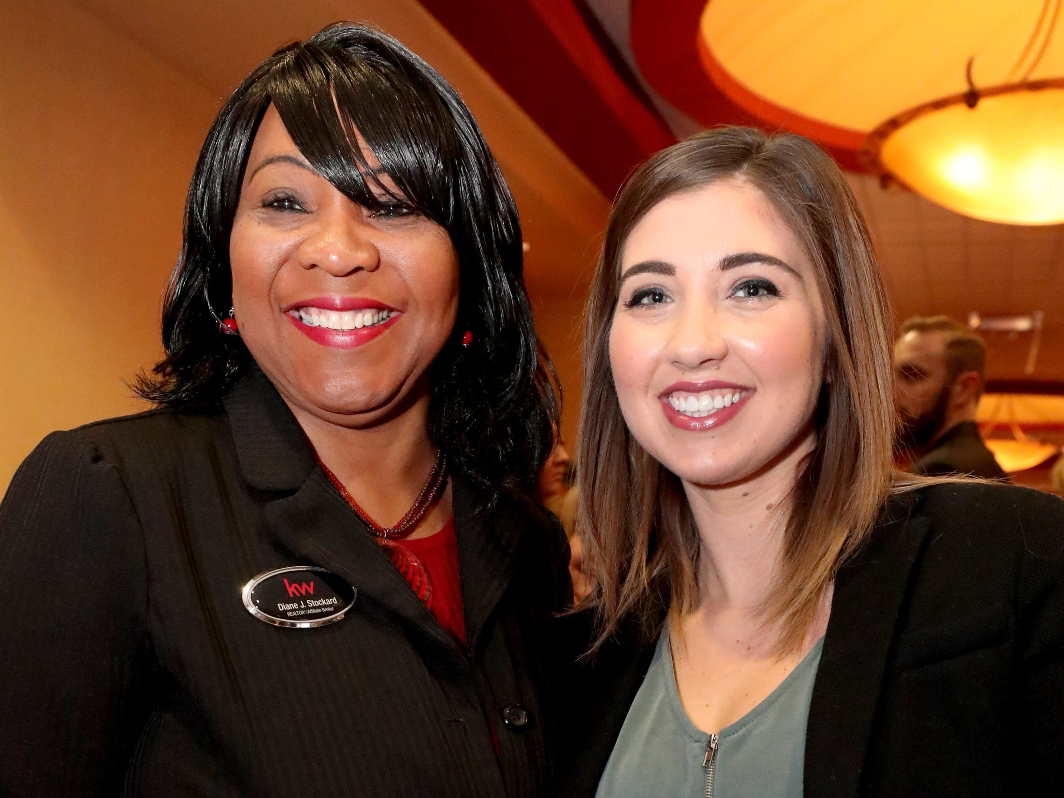 Diane Stockard, left and Tina Thomas at Murfreesboro Magazine's 2019 Women in Business Luncheon on Tuesday, March 12, 2019, at the Embassy Suites Murfreesboro.