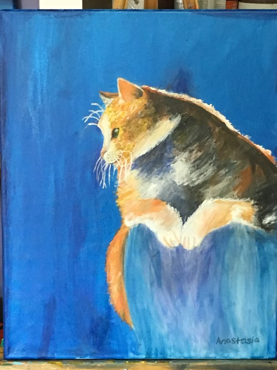 This is one of teacher Charlotte Byrdfeather's favorite paintings from Anastasia Tamm.