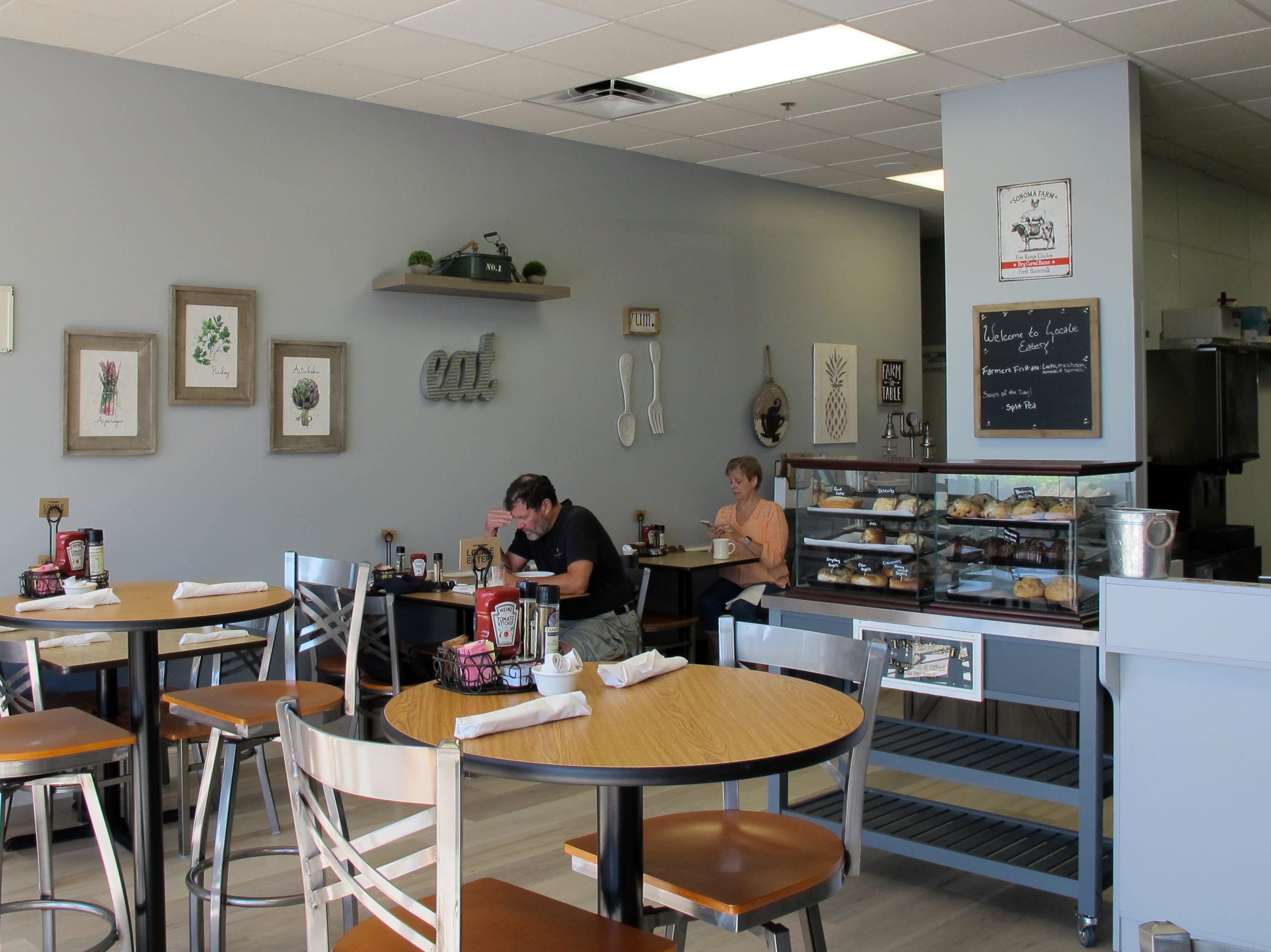 Seating is available inside and outside at Locale Eatery, the new local café for breakfast, brunch and lunch that replaced Sweet Caroline's near NCH North Naples Hospital campus where Goodlette-Frank Road ends at Immokalee Road.