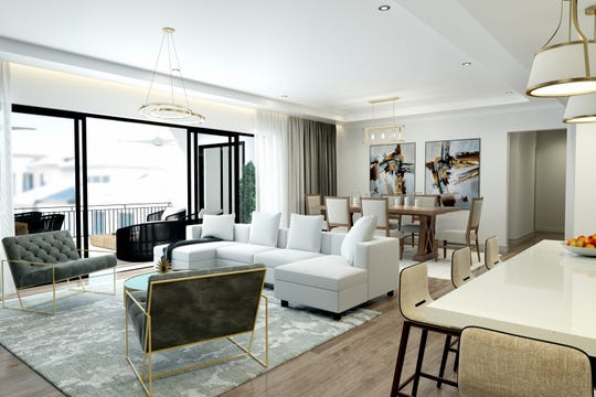 Naples Square offers seven floor plans from 2,300 - 3,800 square feet priced from $1.3 - $2.6 million.