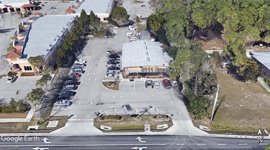 A Google Earth image shows the building that housed the former U.S. Post Office on Broadway East in Estero.