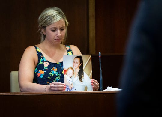 Kate Bumpus provides, cousin of Kelsey Engelsen, provides a victim's statement during the sentencing for Carlos Rodriguez at the Collier County Courthouse Wednesday, March 13, 2019. Rodriguez was sentenced to life in prison after being found guilty of killing Engelsen, 24.