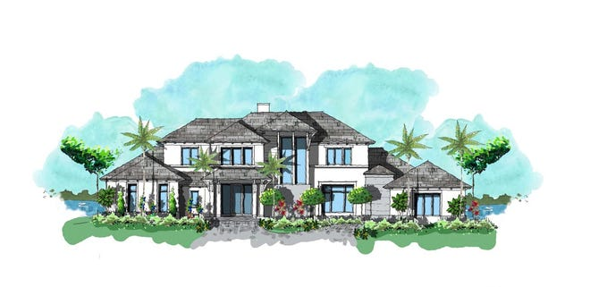 Diamond's new home construction in the Estuary at Grey Oaks, an 11,412 total square foot private estate.