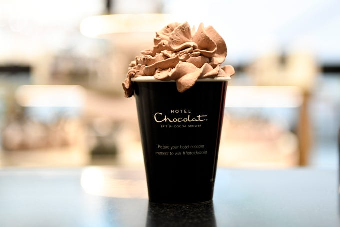 The famous hot chocolate at Hotel Chocolat in Westfield Garden State Plaza on Wednesday, March 13, 2019, in Paramus.