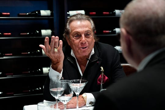 Gianni Russo is interviewed by NorthJersey.com's Jim Beckerman, right, in Park West Tavern on Wednesday, March 13, 2019, in Ridgewood.