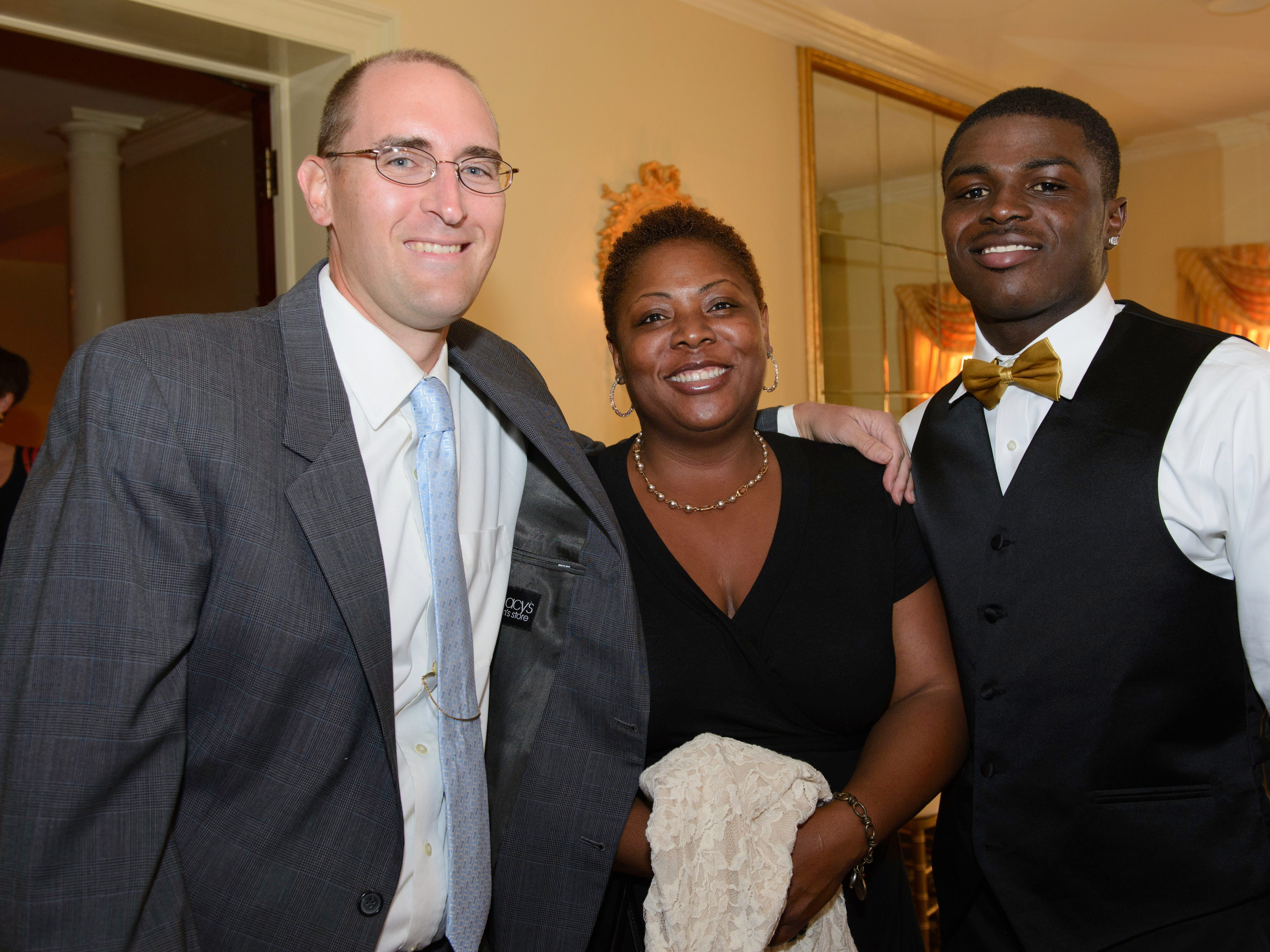 The Record Athlete Of The Week Recognition Banquet held at Stony Hill Inn. Darren Cooper, The Record; Ivory Bryand; Jabrill Peppers, Paramus Catholic.
