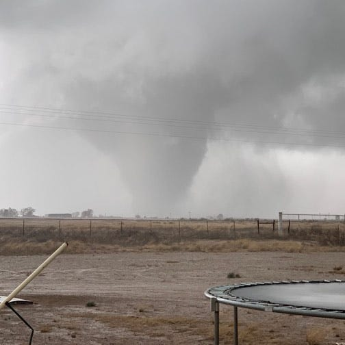 Tornado destroys 10 homes in Dexter; storms head east but high winds could remain