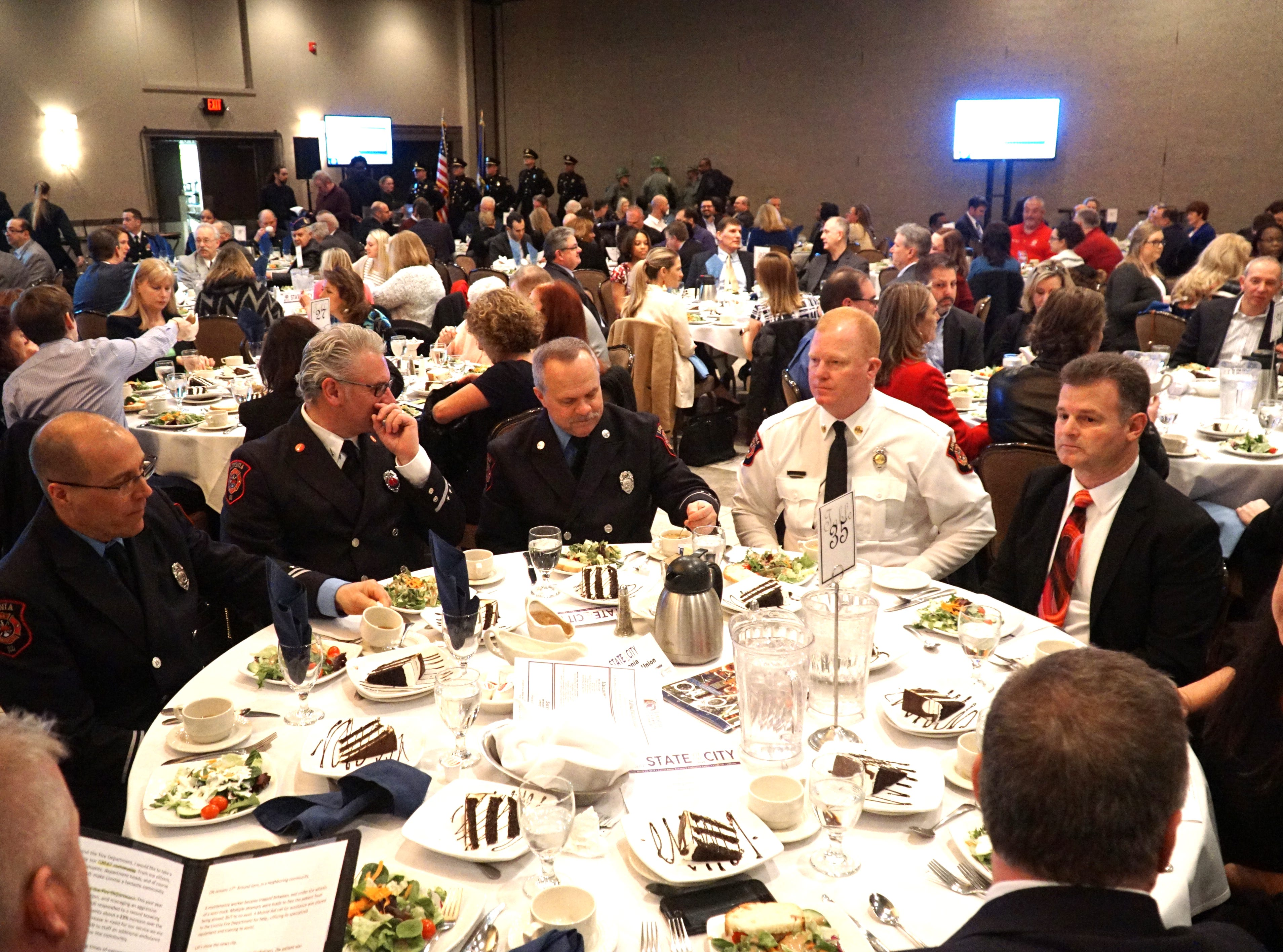 About 500 people attended the March 13 State of the City address for Livonia at Laurel Manor.