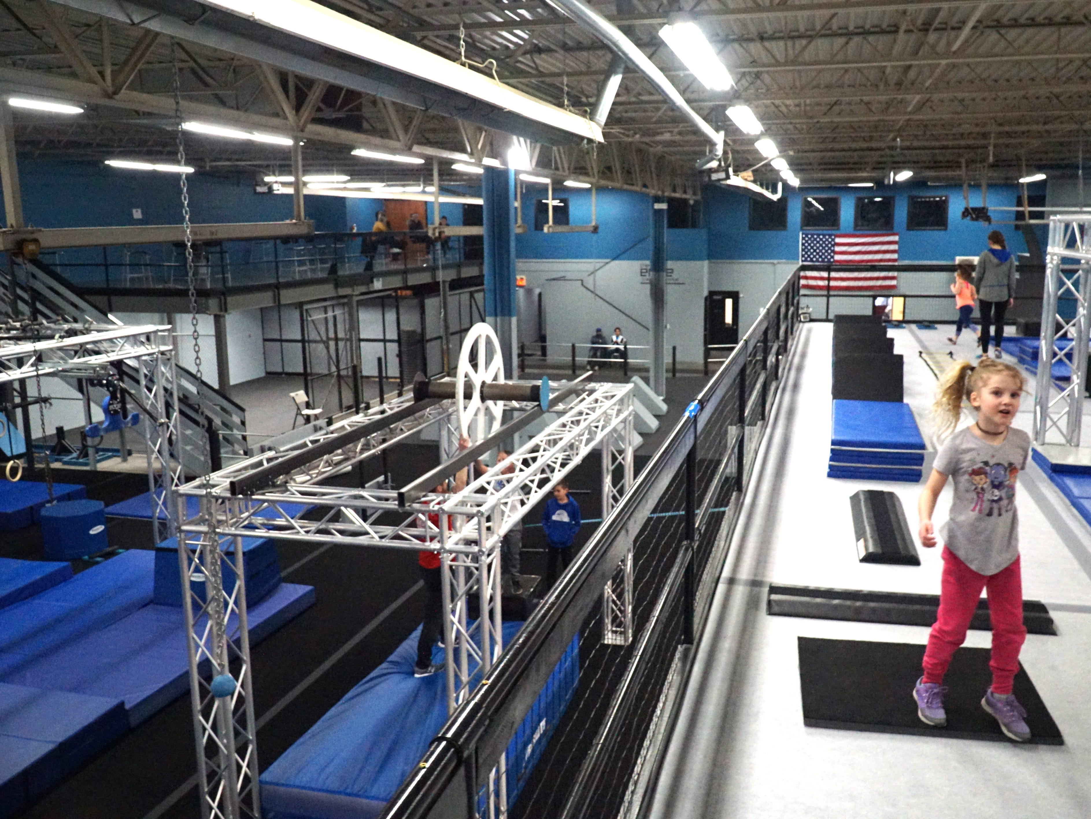 The Edge Training Center has two levels of obstacle course work for its students.