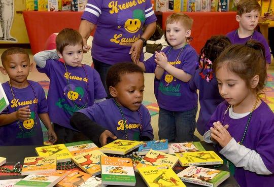 Pre-K students celebrate Read Across America at the St.Landry Parish School Board.