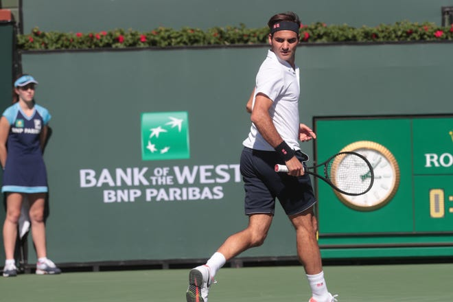Roger Federer is among the men's singles players who could play at Indian Wells in October.