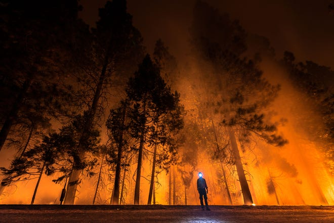 "Stunning imagery captured by Jeff Frost for his ""California on Fire"" installation"