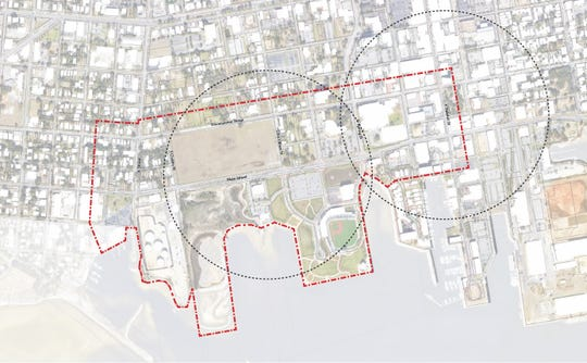 A map shows the study area of the West Main Master Plan project.