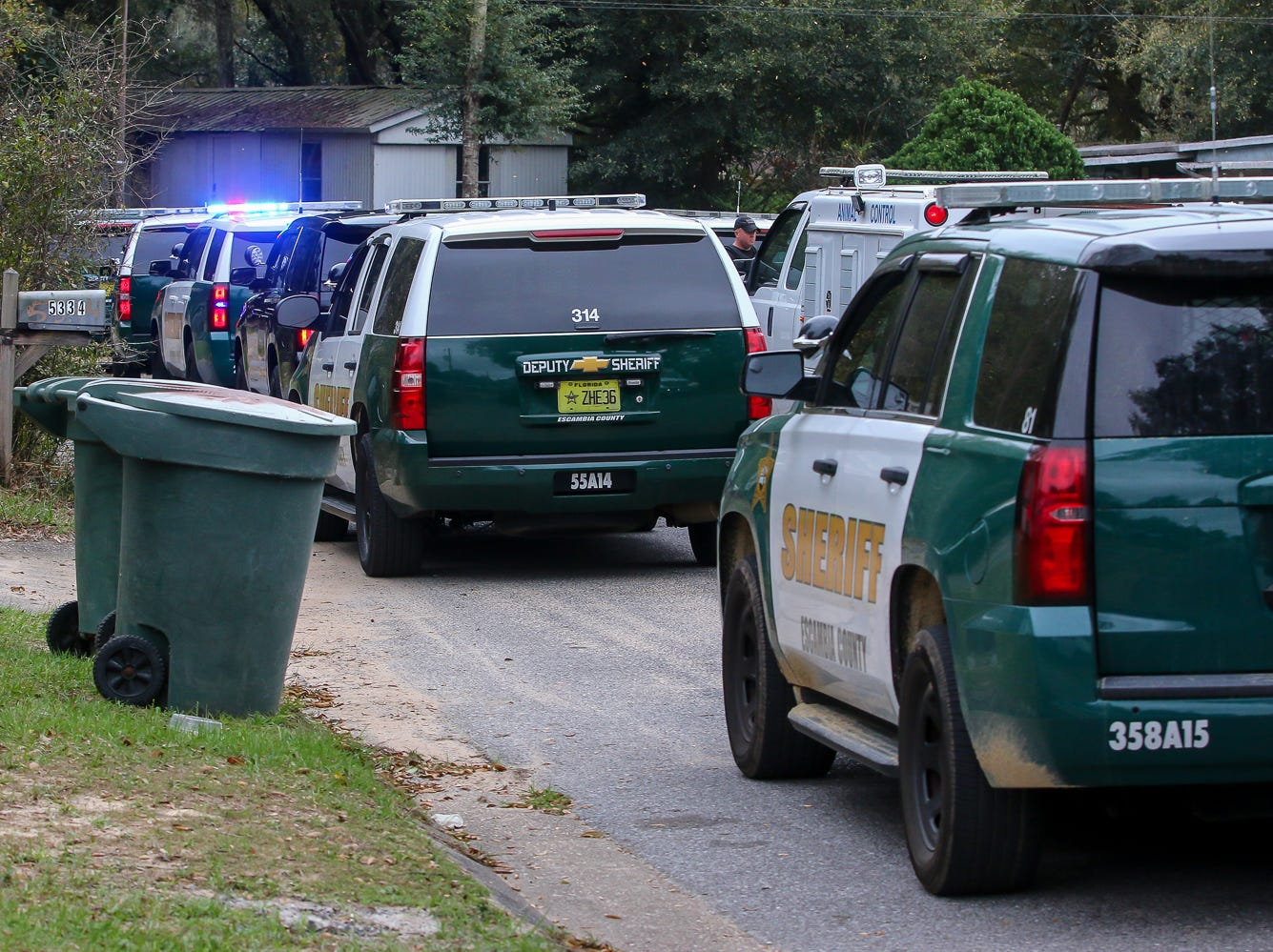 ECSO responds to two officers who were attacked by a dog as they were reportedly attempting to make an arrest on Wednesday, March 13, 2019. The dog was shot and killed.