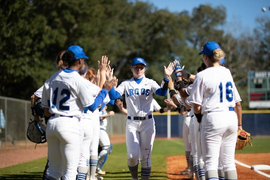 UWF softball's Harley Tagert takes the field during a game in the 2019 season.