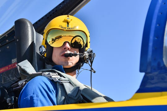 Navy Lt. James Cox, the new No. 3 pilot for the Blue Angels, is pictured during winter training in El Centro, California. Cox says he is excited to return to Pensacola, an area he considers his second home.