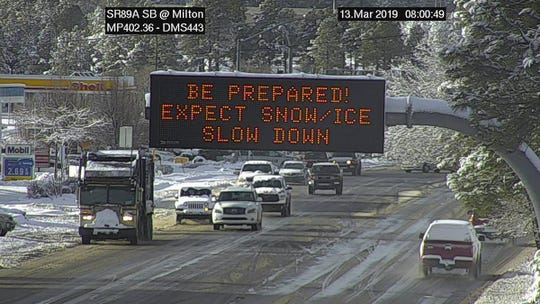 ADOT sign in Flagstaff