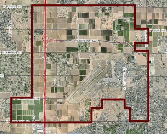 Glendale has deemed this mostly undeveloped area of the city the New Frontier District.
