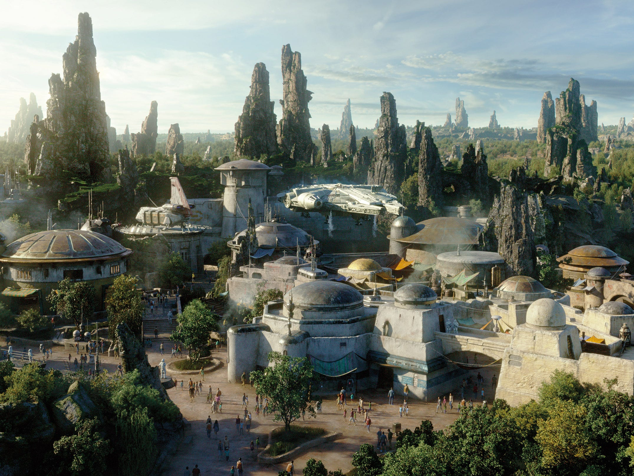 Star Wars: Galaxy's Edge opens May 31, 2019, at Disneyland and will include a number of eclectic restaurants and shops selling otherworldly goods.