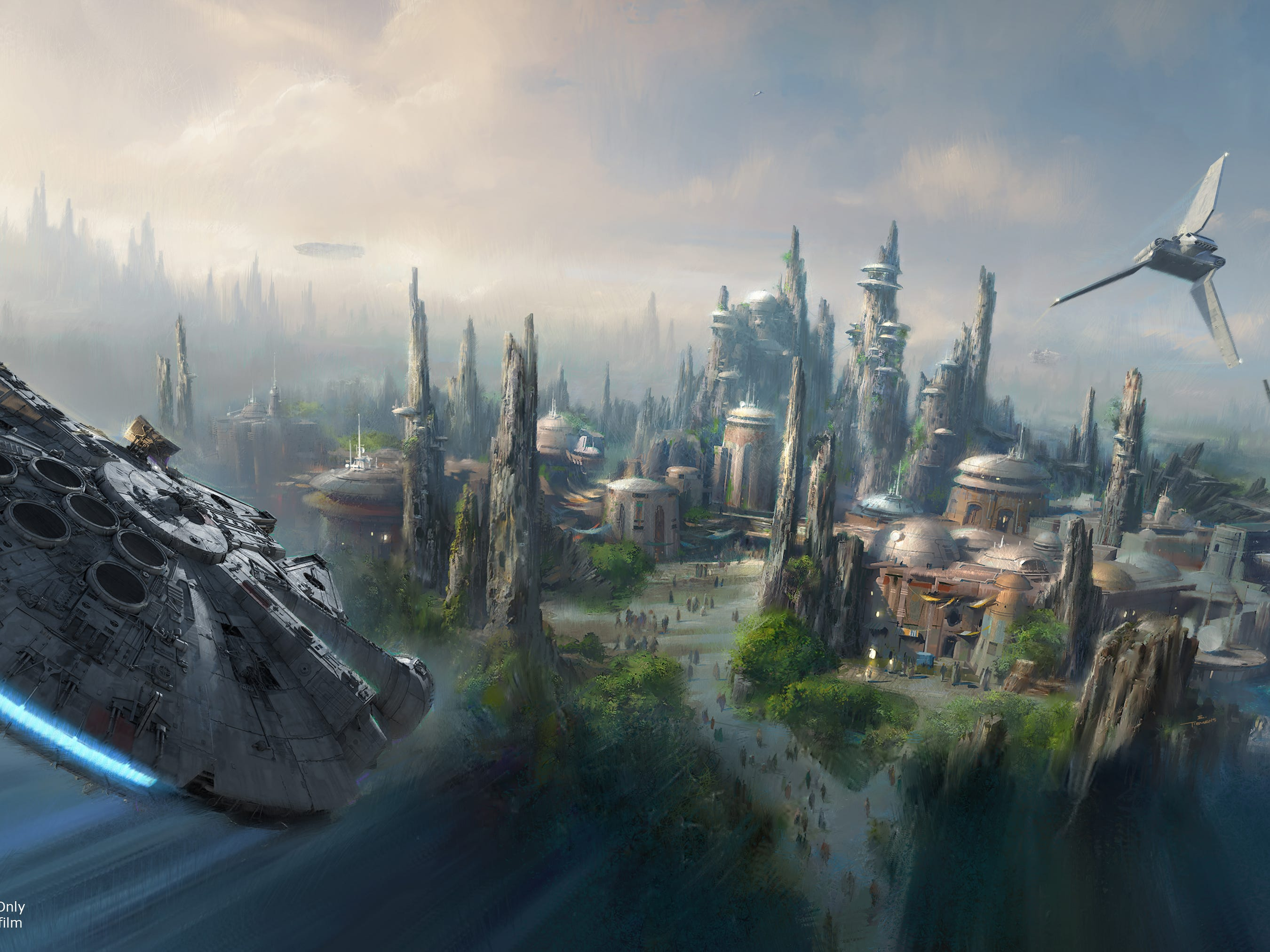 Star Wars: Galaxy's Edge opens May 31, 2019, at Disneyland.  Guests can become part of the Star Wars story as they sample galactic food and beverages, explore a collection of merchant shops and take the controls of the iconic Millennium Falcon.