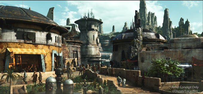Guests will be transported to the remote planet Batuu when they enter Star Wars: Galaxy's Edge, opening May 31, 2019, at Disneyland.