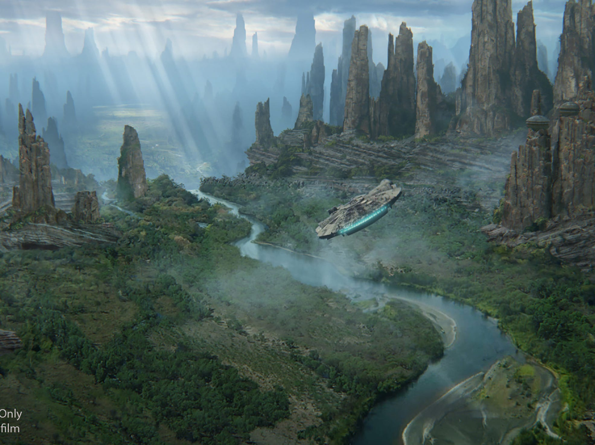 Guests may pilot Han Solo's famous ship in Millennium Falcon: Smugglers Run when Star Wars: Galaxy's Edge opens May 31, 2019, at Disneyland.