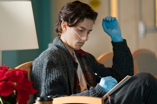 "Will (Cole Sprouse) has cystic fibrosis in ""Five Feet Apart."""