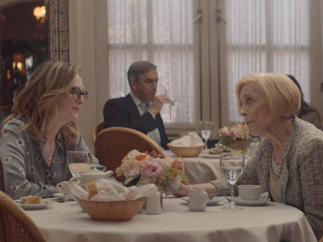 """Julianne Moore (left) and Holland Taylor star in """"Gloria Bell."""" From the review: """"In a world where film arguably celebrates youth more often than middle-aged people in Hollywood, it's refreshing to see the opposite artfully done with one step on the dance floor at a time."""" (4.5 stars)"""