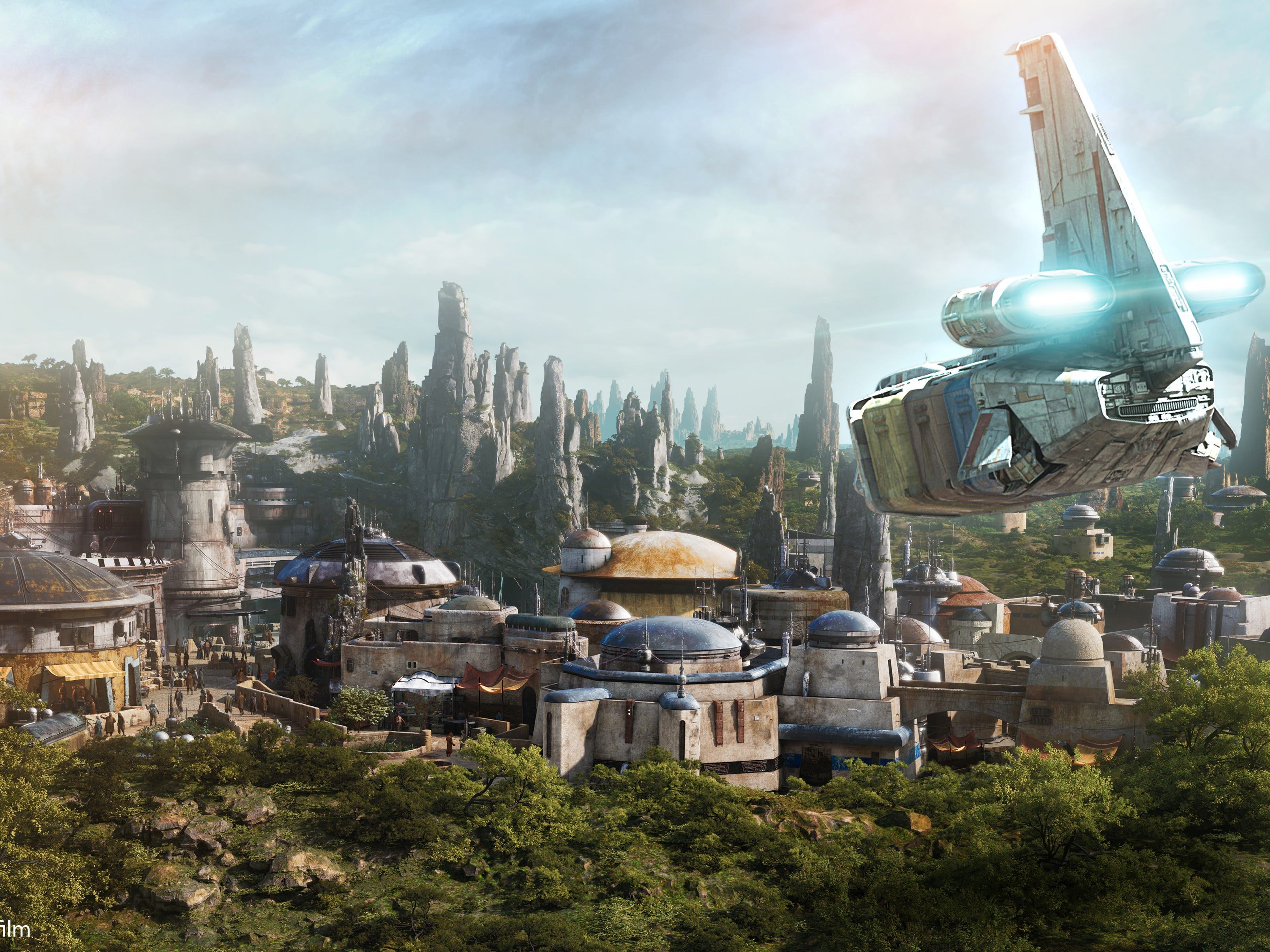 At 14 acres, Star Wars: Galaxy's Edge is Disney's largest single-themed land expansion ever. Guests live out their Star Wars adventures in the Black Spire Outpost, a village on the remote planet of Batuu.