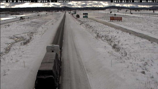 Icy roads in northern Arizona